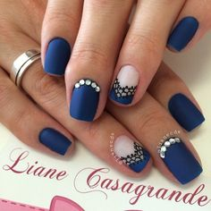 Most Pretty Dark Blue Nail Art 2018