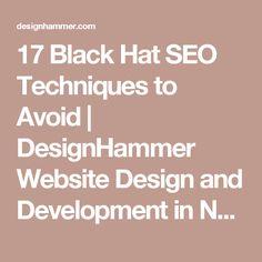 17 Black Hat SEO Techniques to Avoid | DesignHammer Website Design and Development in North Carolina