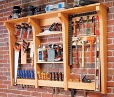 Wall-Mounted Tool Rack free plans
