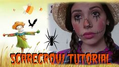 Cute Scarecrow Makeup   Halloween Tutorial ♥