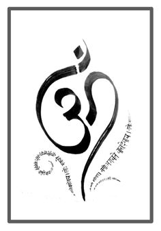 """""""AUM"""" #Devanagari #Calligraphy"""