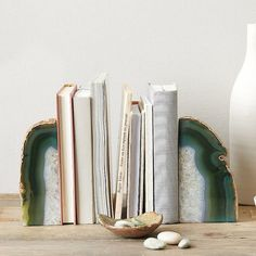The Ultimate Fall Decor Guide: Agate Bookends ($19 each)