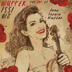 Design di Illustrate the cover for Anne Sophie Mutter's new album di lacaramella