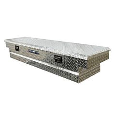 """Lund 72-Inch Slimline Cross Bed Truck Tool Box, Full Lid, Aluminum, Diamond Plate, Brite 72-Inches (L) """"inside flatbed"""" by 16-Inches (H) by 12-Inches (W) $348.98"""