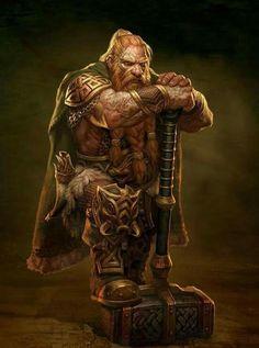 m Dwarf Fighter w war hammer
