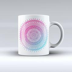 The Ethnic Indian Tie-Dye Circle ink-Fuzed Ceramic Coffee Mug from DesignSkinz