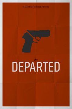 departed minimal movie poster