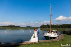 A beautiful ceremony in the rain at a summer cottage, couple portraits on a boat and then the sun came out to celebrate at Adventure Valley at this Porvoo Wedding. Couple Portraits, Finland, Groom, Cottage, Boat, Adventure, Bride, Amazing, Summer