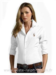boutique Ralph Lauren chemises femmes pony mode white Ralph Lauren Femme  Chemise ea4fd8cda160