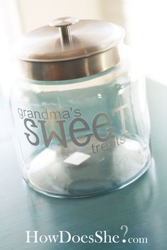 Grandmas Sweets Jar! Handmade Mother's Day Gift Ideas howdoesshe.com #mothersdayideas