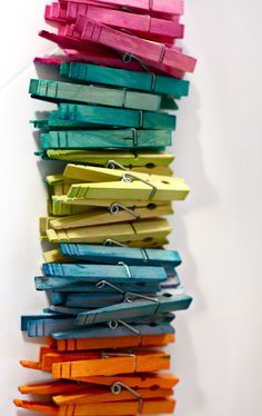 dyed pegs