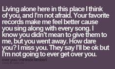 Miranda Lambert - Over You..Love this song!