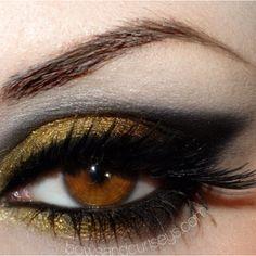 Bronze and black modified egyptian eye