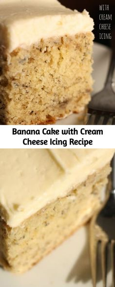 bite of this super- moist crazy banana cake with cream cheese icing will hav. - Cakes - One bite of this super- moist crazy banana cake with cream cheese icing will hav. Cream Cheese Recipes, Cream Cheese Icing, Cake With Cream Cheese, Cheesecake Recipes, Cupcake Recipes, Cupcake Cakes, Cupcakes, Banana Cake Icing, Recipe For Banana Cake