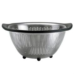 OXOu0027s Stainless Steel Colander Features A Perforated Design For Fast And  Thorough Straining And Five Feet For Stability In The Sink Or On The  Countertop.
