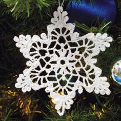 Crochet White Snowflake Tree Ornaments Christmas Snowflakes Set Of 6 Ornaments Hand Crochet Snowflake Tree Decoration Winter Wedding Decor Crochet Snowflake Pattern, Crochet Stars, Crochet Snowflakes, Christmas Snowflakes, Crochet Motif, Crochet Doilies, Christmas Tree Ornaments, Christmas Crafts, Crochet Patterns
