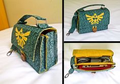 I decided to make this for my 3DS when I was playing Zelda - Ocarina of Time 3D. I created the entire model of the bag, with the two compartments, and 6 pockets for the cartridges. Now, all my 3DS ...