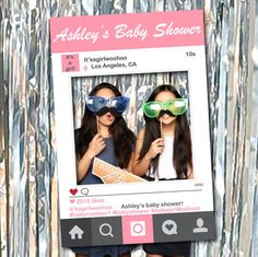 Social Media Photo Frame Booth Prop for Birthdays, Weddings, Baby Showers, Bridal Showers, Bachelorette Parties, Prom, Corporate Events, etc. Only $15!