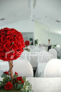 Rose tree centrepiece