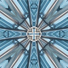 kaleidoscope geometric Stock Photo