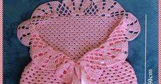 Vi na internet uma peça parecida com essa e fiquei encantada! Alguns chamam de saco de dormir para bebê, outros cocoon baby crochet, eu ...