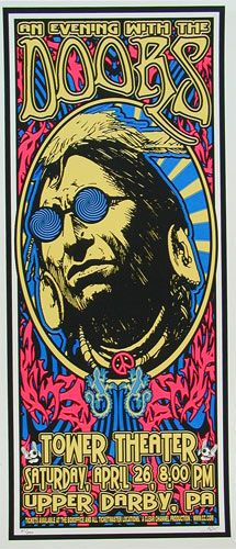 Classic rock concert psychedelic poster - Scott Benge (FGX) The Doors Poster