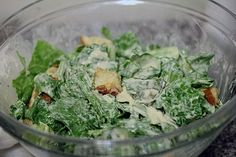 ceasar salad dressing - fantastic dressing! go easy on the raw garlic if you are eating with people who are wimps
