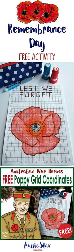 This FREE Remembrance Day teaching resource is a great activity for your upper primary students. This challenging grid coordinates maths activity can be incorporated in to your maths and HASS or History lessons. With 186 steps it will keep your Year 6 Remembrance Day Activities, Remembrance Day Art, Year 6 Maths, Australia School, Inspired Learning, Forget, Anzac Day, Math Art, Free Activities