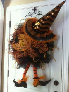 wreath, halloween witch