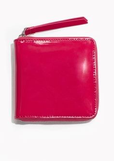 & Other Stories image 1 of Patent Leather Zip Wallet in Pink Ss 2017, Zip Wallet, Wallets For Women, Patent Leather, Clothes For Women, Pink, Bags, Street, Outerwear Women