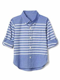 Baby Gap - striped shirt perfect for boys during the photo session
