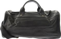 R&R Leather Duffel Bag 4-437-1B with FREE Shipping & Returns. This large duffel bag features a top zip closure, an interior zip pocket  $125  9x18x7.5