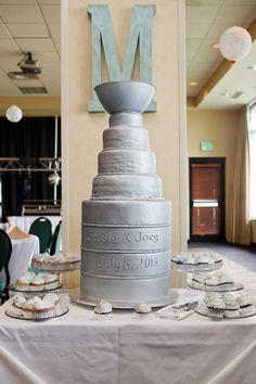 Stanley Cup Hockey Wedding Cake Bemidji Hampton Inn Minnesota I by Leaves of Grass Photography