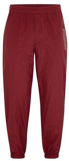 Topman VISION STREET WEAR Burgundy Nylon Track Pants