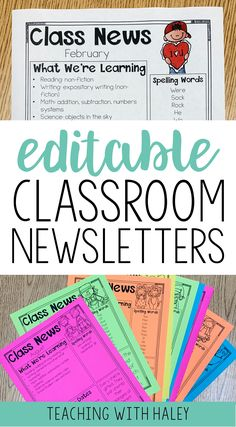 Get a year's worth of editable classroom newsletters! It is full of 115 adorable and eye-catching newsletters that you can send out weekly or monthly! | classroom newsletter editable, editable class newsletter, editable classroom newsletter, class newsletter templates, classroom newsletter templates, 3rd grade newsletter, school newsletter design, elementary newsletter, editable elementary newsletter, back to school newsletter