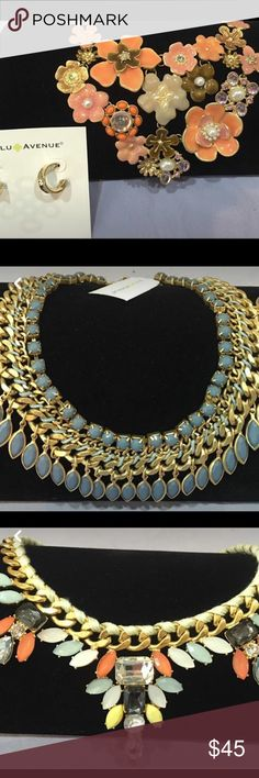 Lulu Avenue Statement necklaces Lulu Avenue Statement necklaces. Brand new. Used for displays. $40 each. Lulu Avenue Jewelry Necklaces