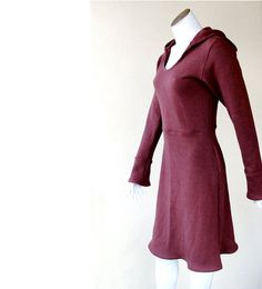Hemp fleece hoodie dress by econica on Etsy, $152.00 OMG, if you know me well, you know I love this!! :)