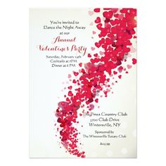Valentines Day Anniversary Party Invitations  Anniversary Party