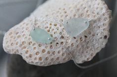 Sea Glass & Sterling Silver Necklace  Light by TheRubbishRevival, $34.00