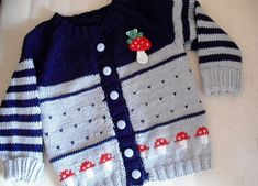 Baby jacket by Weesiner on Etsy - My Kindermode 2019 Crochet Baby Jacket, Knitted Baby Cardigan, Baby Knitting Patterns, Baby Patterns, Jeans Bleu, Baby Sweaters, Kind Mode, Pulls, Diy Clothes