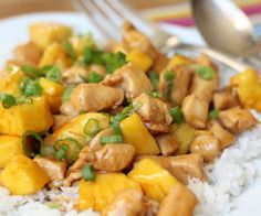 Slow cooker teriyaki chicken.Chicken with pineapple chunks and teriyaki sauce cooked in slow cooker.