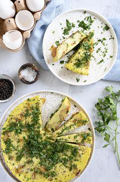 Spansk Tortilla - opskrift på den lækre spanske klassiker med kartofler Chorizo, Palak Paneer, Tapas, Veggies, Appetizers, Ethnic Recipes, Fest, Mood, Potato Salad
