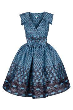 Image of Lab Shirt Dress (Sea & Dark Blue)