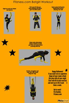 Batgirl Workout! Train Year-Round to Look and Perform Like a Superhero – A FUN Infographic