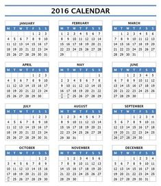 yearly calendar 2016 printable activity shelter calendar