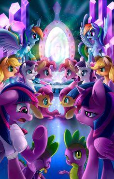Tumblr Equestria Girls versions meet Pony versions. XD