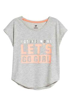 croptop for kids Sports top - Grey marl - Kids Black Girl Fashion, Teen Fashion, Best T Shirt Designs, Only Play, Crop Shirt, Sport Wear, Sports Women, Kids Sports, Workout Shirts