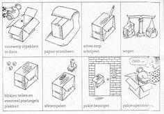 Werkblad; Logische volgorde pakje versturen Office Themes, Preschool Lessons, Ipad App, Post Office, Homeschool, Dibujo, The Letterman, Paper, History