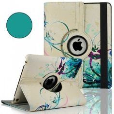Flower Design 360 Rotating Magnetic PU Leather Case Smart Cover FOR Ipad 4 3 2 | eBay
