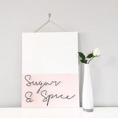 Sugar & Spice wire wall hanging quote by MoreThanJustOnEtsy